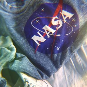 Comfy blue/grey NASA sweater